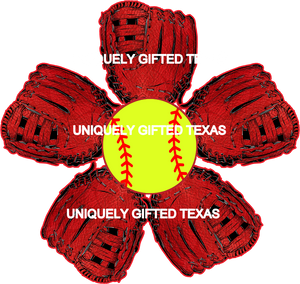 BALL GLOVE FLOWER - INSTANT DOWNLOAD - PNG, SVG