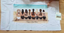 "Load image into Gallery viewer, Custom Subli Plush 30""x60"" Beach Towel"