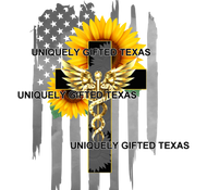 SUNFLOWER CADESUS DISTRESSED FLAG - INSTANT DOWNLOAD - PNG, SVG