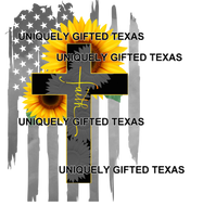 FAITH SUNFLOWER DISTRESSED FLAG - INSTANT DOWNLOAD - PNG, SVG