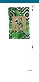 "PERSONALIZED GARDEN FLAG 10.5""x15"""