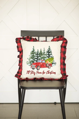 I'll Stay Home for Christmas Pillow Sham