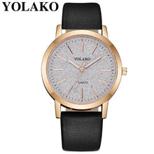 Load image into Gallery viewer, 2019 Top Brand High Quality Fashion Womens Ladies Simple Watches Geneva Faux Leather Analog Quartz Wrist Watch clock saat Gift Q