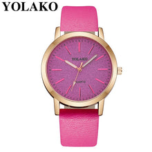 Load image into Gallery viewer, Luxury Brand Leather Quartz Women's Watch Ladies Fashion Watch Women Wristwatches Clock relogio feminino masculino #A