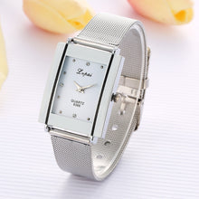 Load image into Gallery viewer, Alloy Steel Women Watches Female Quartz Wrist Watches Watch Rectangular Dial Luxury Wristwatch Women Lady Watches relojes mujer