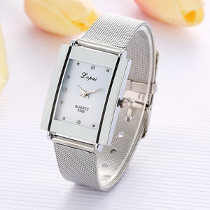 Alloy Steel Women Watches Female Quartz Wrist Watches Watch Rectangular Dial Luxury Wristwatch Women Lady Watches relojes mujer