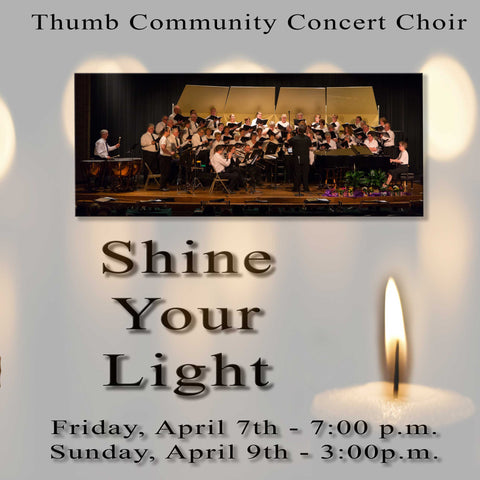2017 Thumb Community Concert Choir CD or DVD or Combo