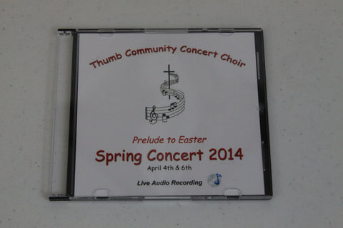 2014 Thumb Community Concert Choir CD