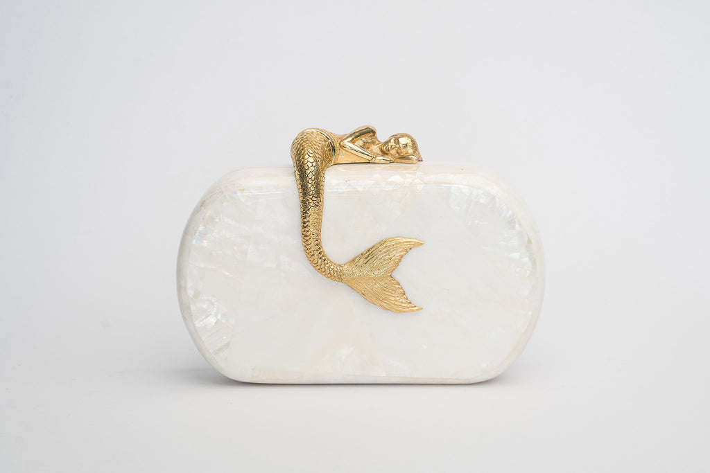 Siren Minaudière in White