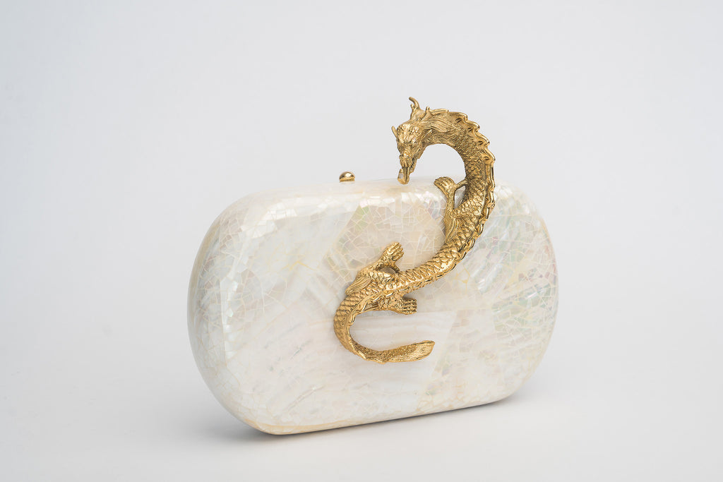 Suzy Wong Minaudière in White