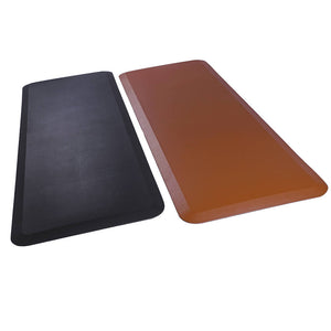 Beauty Salon Rectangle Anti-fatigue Mat Salon Mat Black Lattice