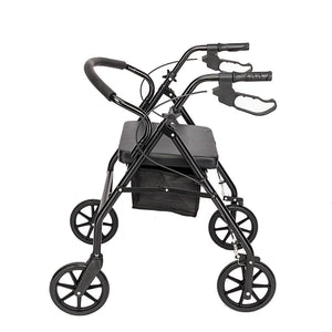 Steel & Nylon Walker with Wheels Black