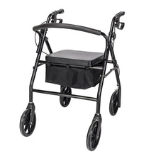 Load image into Gallery viewer, Steel & Nylon Walker with Wheels Black