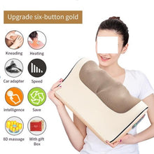 Load image into Gallery viewer, Neck Shoulder Back Body Electric Massager Pillow