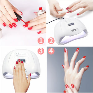 Acrylic Nail Kit With Nail Lamp