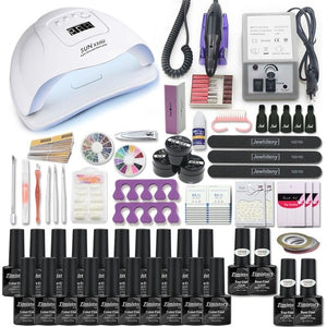 Manicure Set for Nail Kit with led Nail lamp