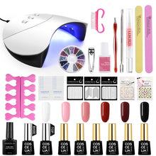 Load image into Gallery viewer, Manicure Set Acrylic Nail Kit With Nail Lamp