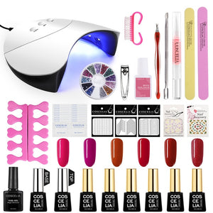 Manicure Set Acrylic Nail Kit With Nail Lamp