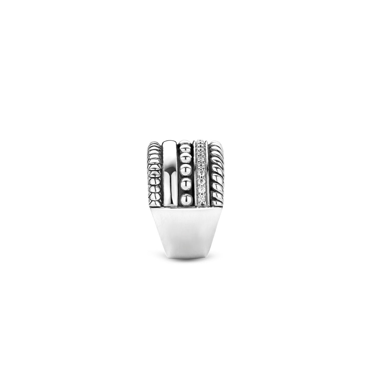 TI SENTO Sterling Silver Five Row Ring