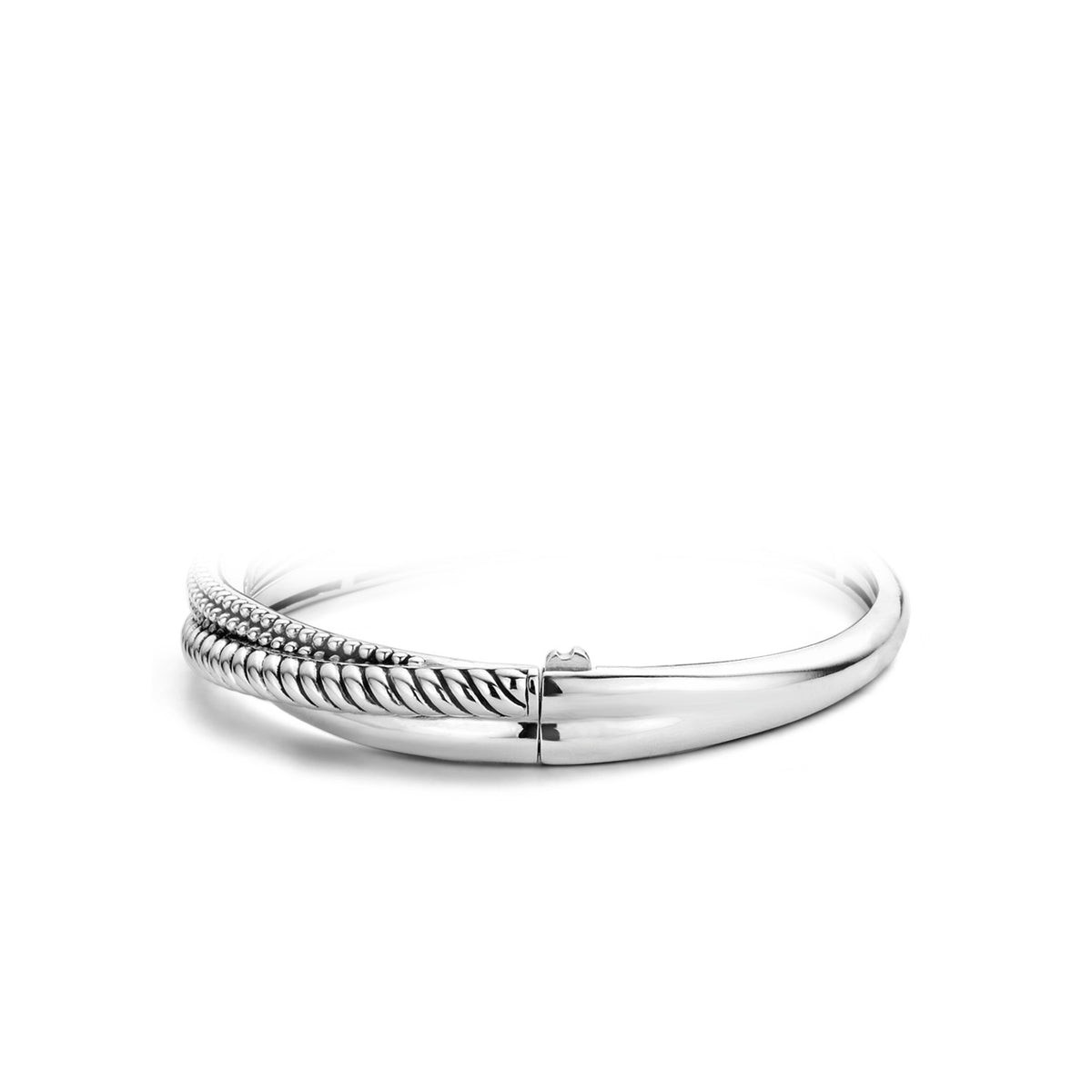 TI SENTO Sterling Silver Twisted Style Hinged Bracelet