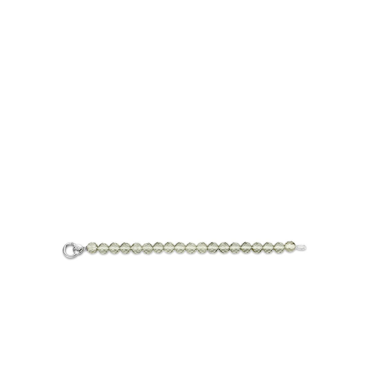 TI SENTO Sterling Silver Bracelet with Faceted Green Beads