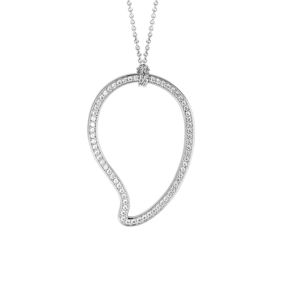 TI SENTO Sterling Silver Necklace with Paisley Pendant