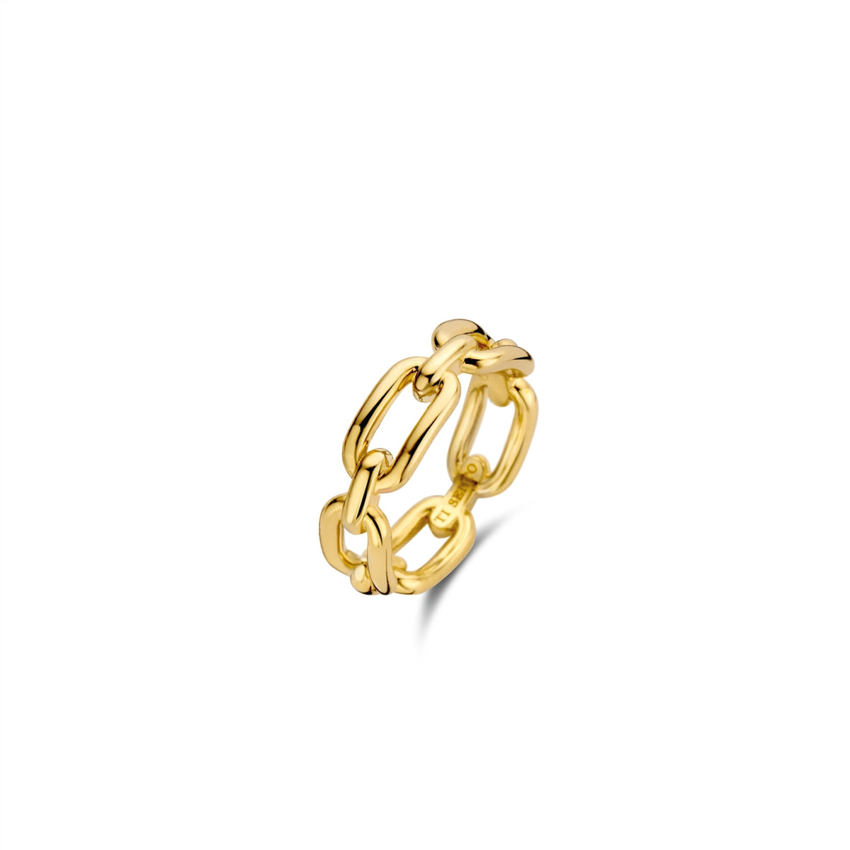 TI SENTO Sterling Silver Gold Tone Chain Link Ring