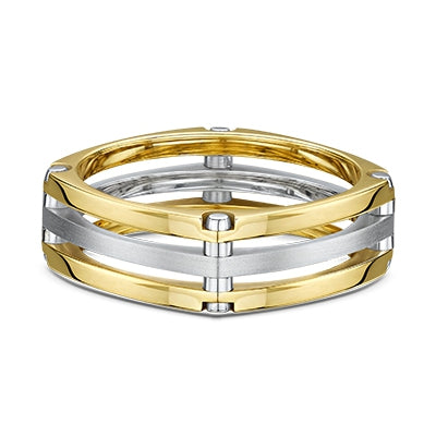 Men's Dora 14K Two Tone Wedding Band