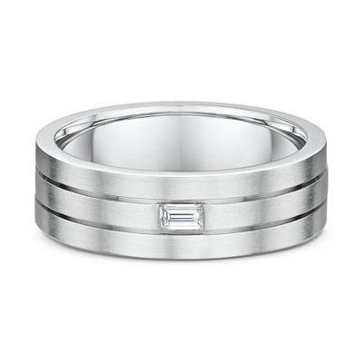 Men's Dora 14K White Gold 7mm Wedding Band