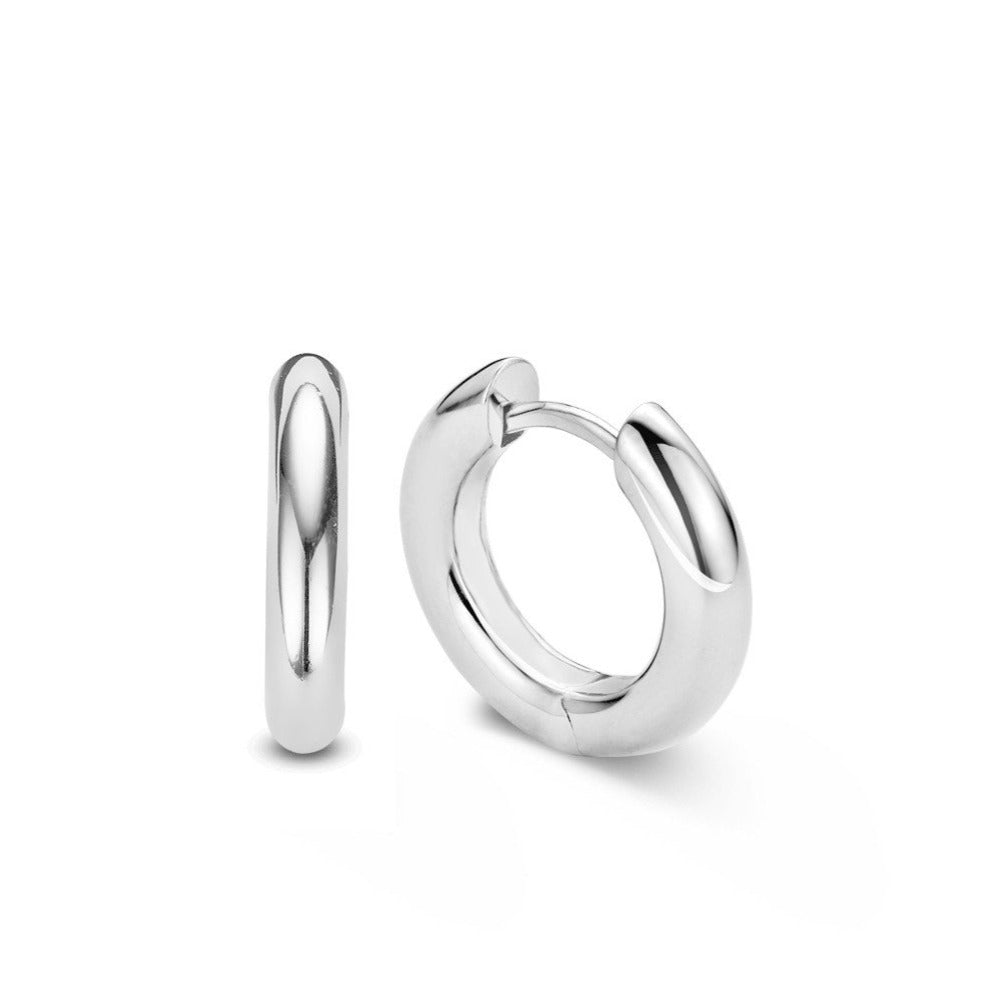 TI SENTO Medium Hoop Huggie Earrings