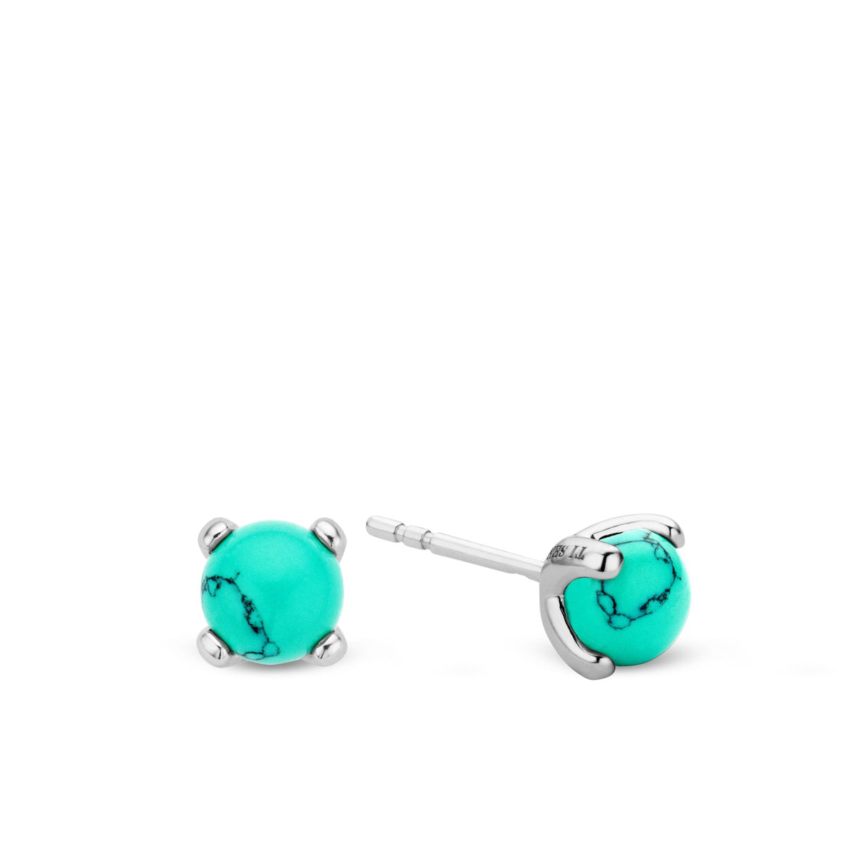 TI SENTO Sterling Silver Turquoise Colored Stud Earrings
