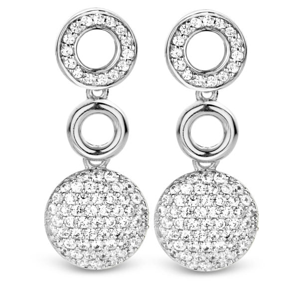 TI SENTO Sterling Silver Ear Charms with Pave Cubic Zirconia