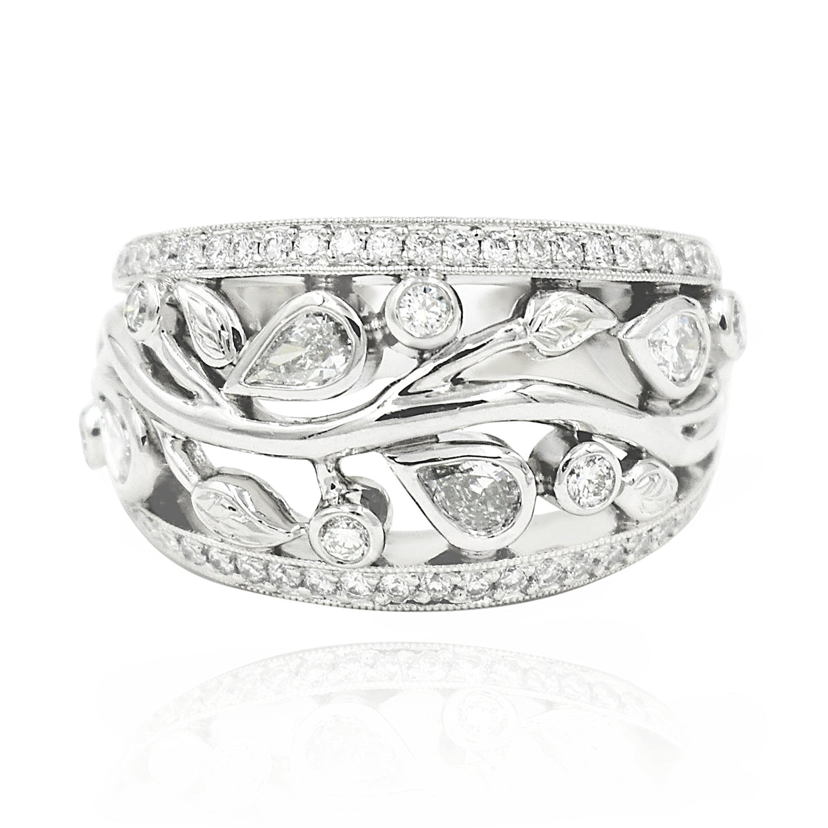 Beaudry Platinum and Diamond Garden Band