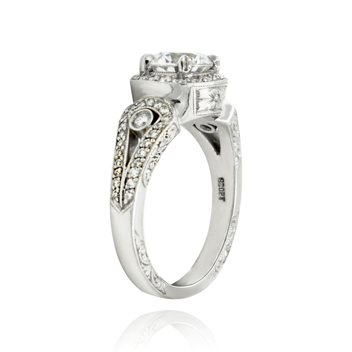Beaudry Platinum Beautique Belle Ring Setting