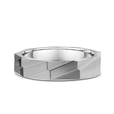 Men's Dora 14K White Gold 5mm Wedding Band