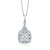 Simon G 18K White Gold Diamond Halo Cluster Pendant