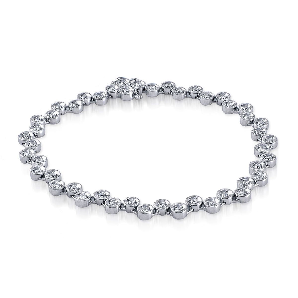 Simon G 18K White Gold Diamond Bracelet