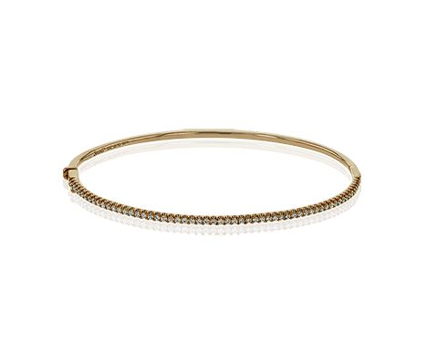 Simon G 18K Rose Gold Diamond Line Bangle