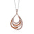 Simon G 18K Rose Gold Pear Shape Pendant