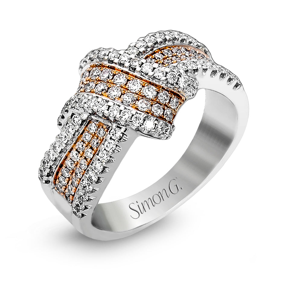Simon G 18K White and Rose Gold Fashion Ring