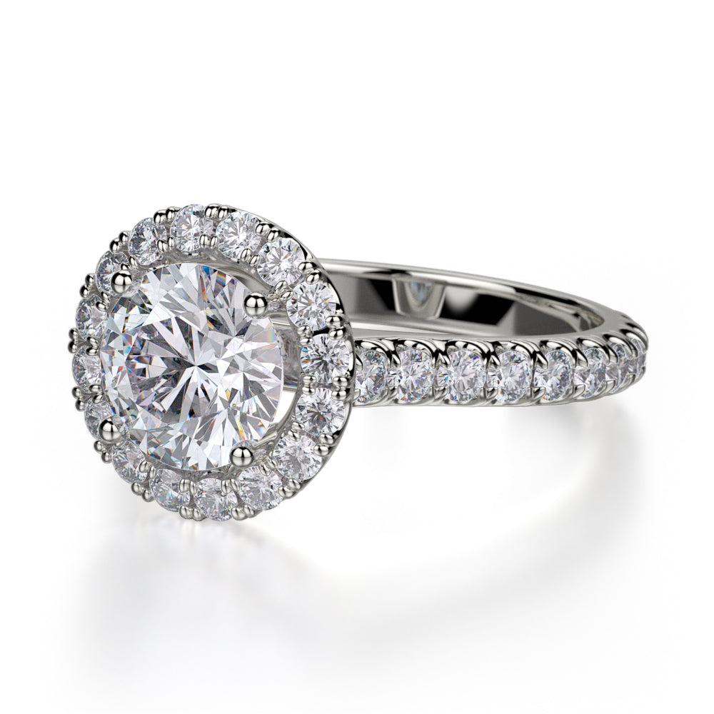 Michael M 18KWG Europa Diamond Ring Setting