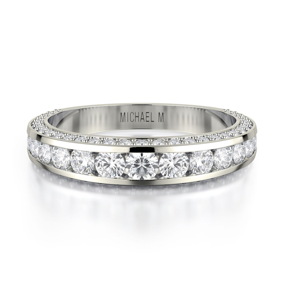 Michael M 18KWG Diamond Wedding Band