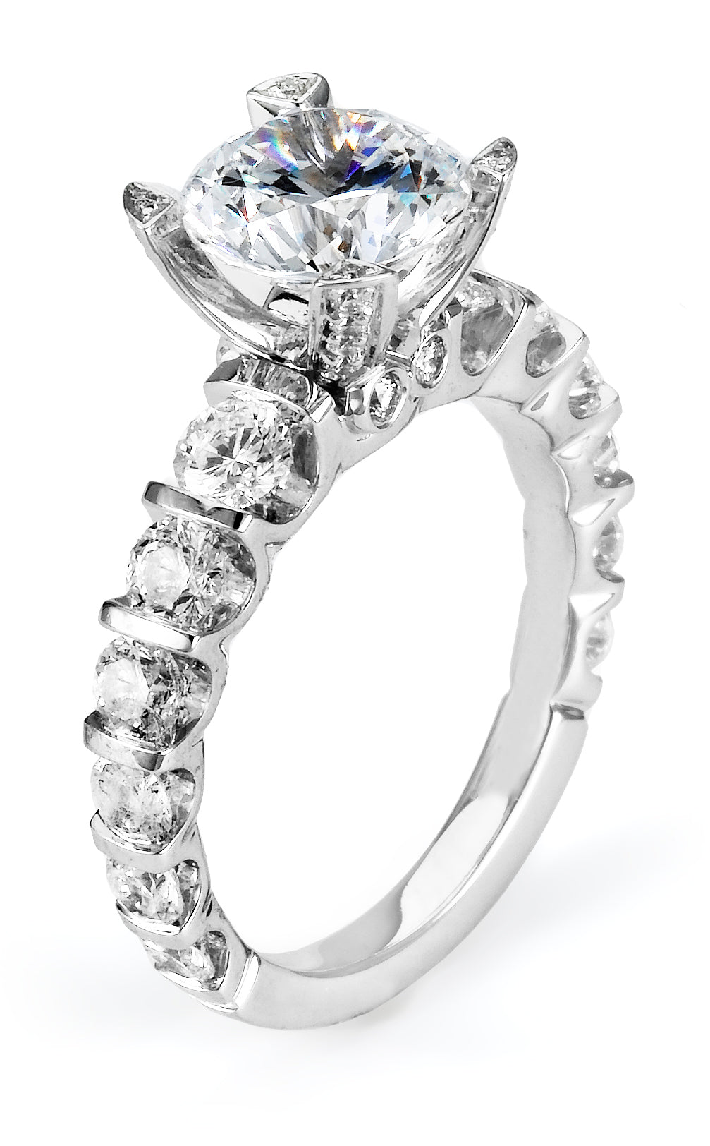 Michael M 18KWG Diamond Engagement Ring