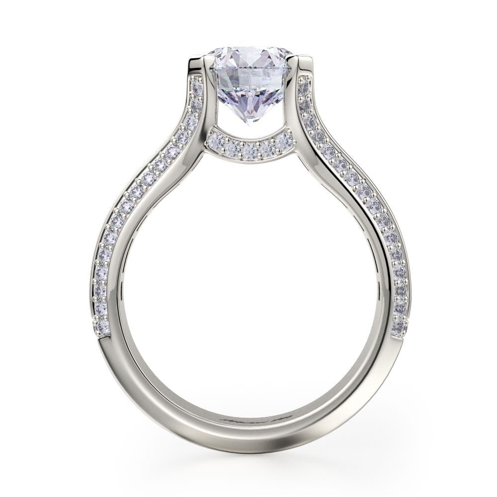 Michael M 18KWG Stella Diamond Engagement Ring Setting