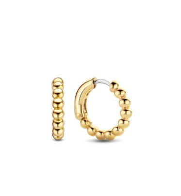 TI SENTO Sterling Silver Gold Tone Bead Hoops