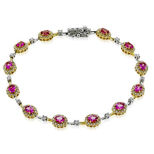 Simon G Two Tone Spinel and Diamond Bracelet