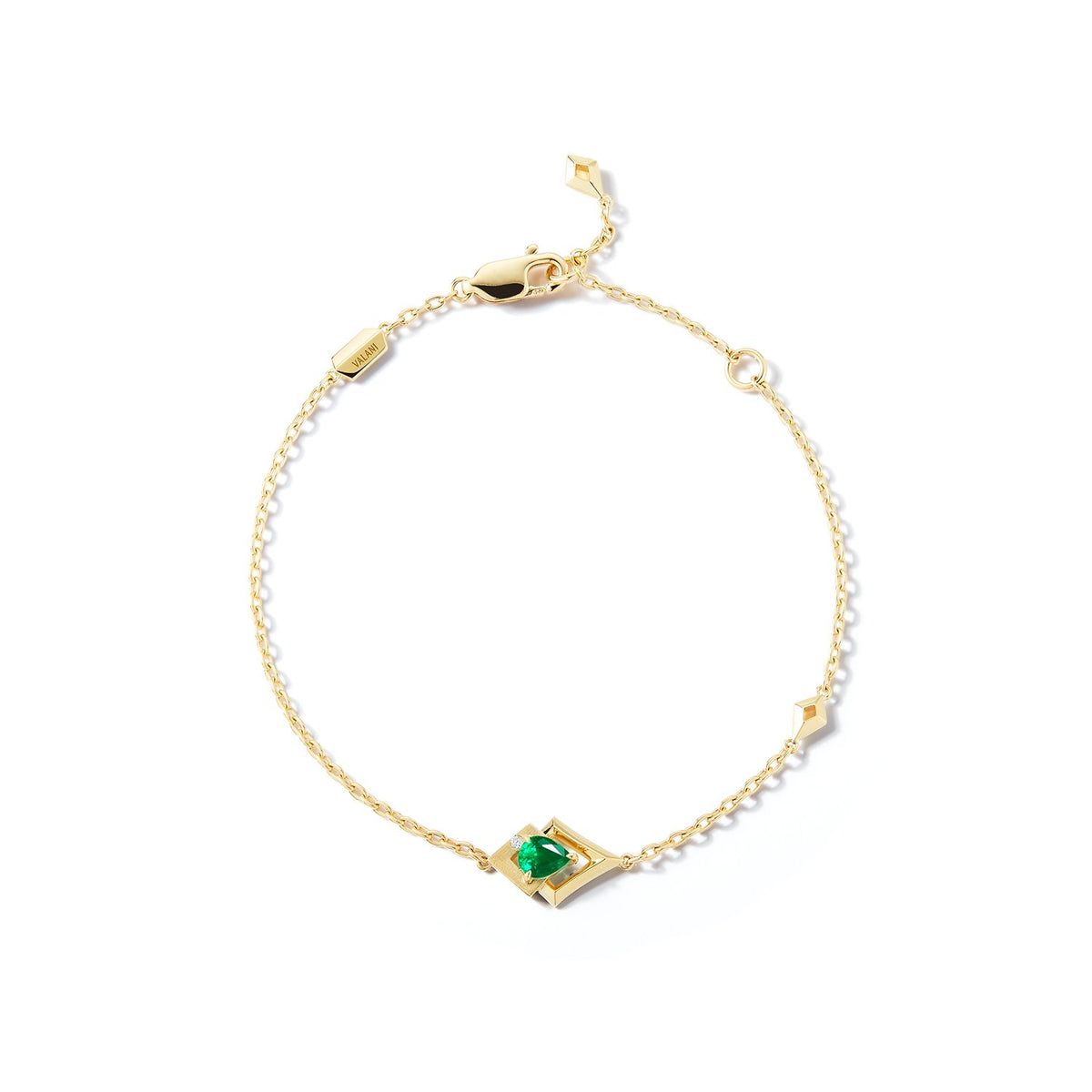 Valani 18K Yellow Gold Arris Emerald Bracelet