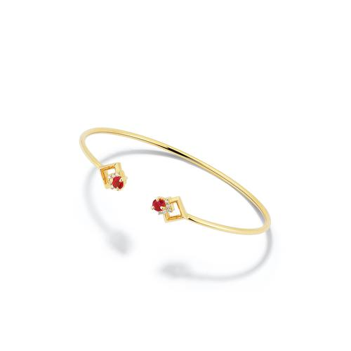Valani 18K Yellow Gold Rive Ruby Cuff