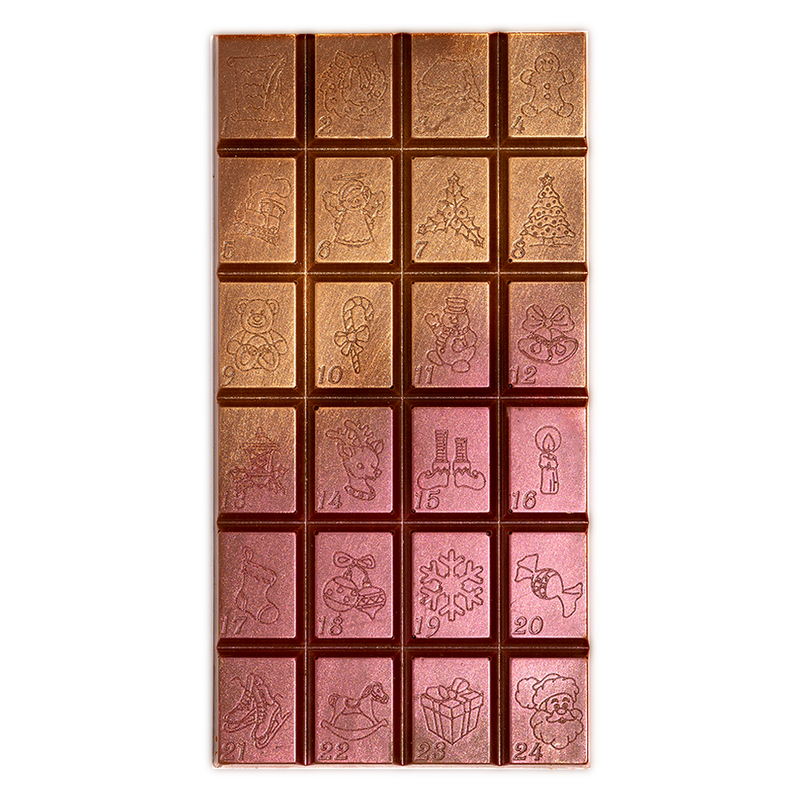 Milk Chocolate Advent Block