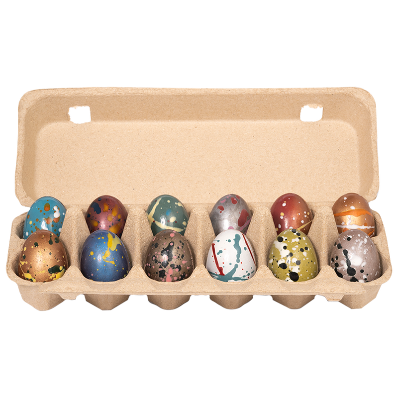Dark Chocolate Psychedelic Dozen Eggs